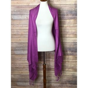 Lavender Scarf/shawl fringed ends Lavender 70 x 29